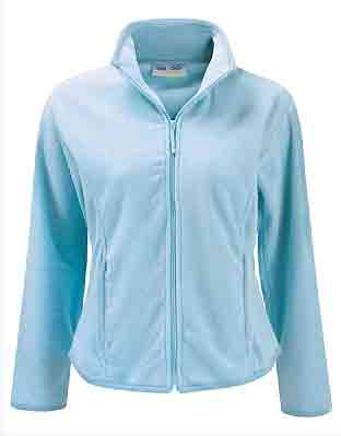 Sky Blue Ladies Microfleece