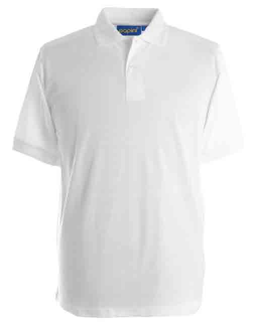 White Cotton Mixture Polo Shirt
