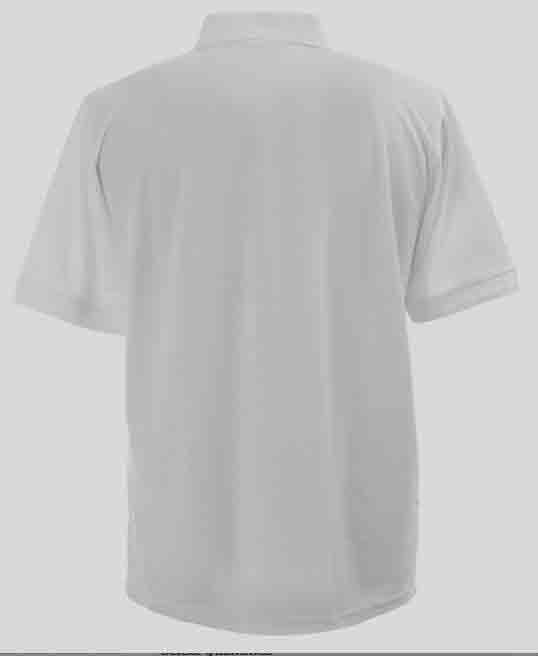White Cotton Mixture Polo Shirt