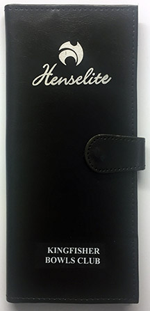 Henselite Leather Scorecard Holder Overprinted