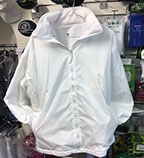 White waterproof reversible jacket
