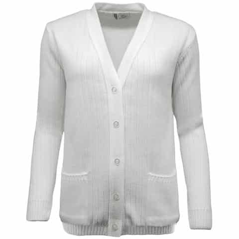 Ladies Ribbed Knit Bowls Cardigan
