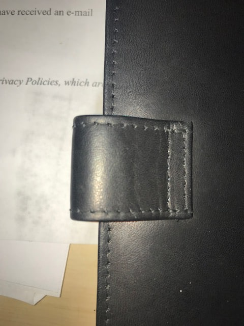 Leather Scorecard Holder Overprinted