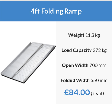 Wheelchair Folding Ramps and Dog Ramps Available To Choose From 2ft, 3ft, 4ft, 5ft and 6ft. This Lightweight Access Ramp Is Easily Folded.