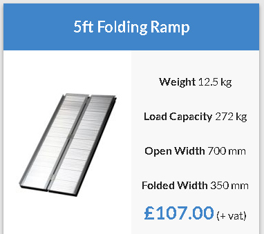 Lightweight folding ramps 4ft -6ft